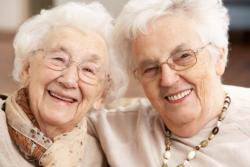 Two happy elders